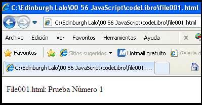 Primera prueba de JavaScript